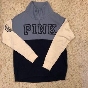 PINK half-zip sweater